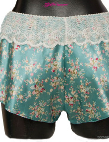 Sublime seduction - Satin & Lace knicker Aqua