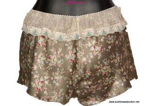 Satin & Lace - Jardin D'amour - Knicker - green