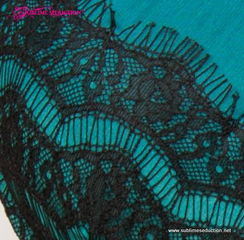 Silk Chiffon & soft lace