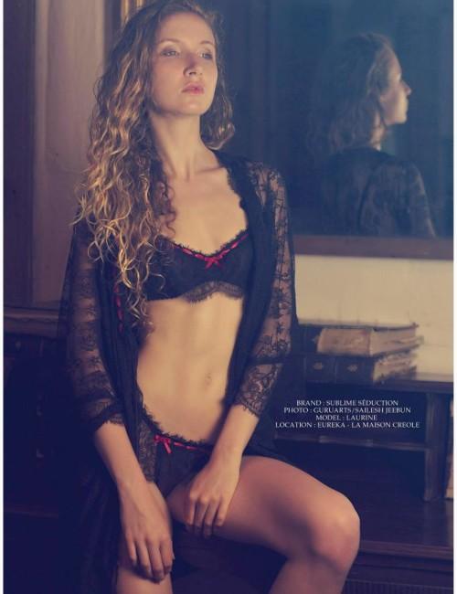 Sublime seduction Lingerie - 300 Amour secret - Black /Red